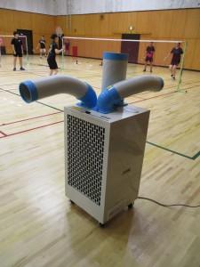 冷風機を設置しました。