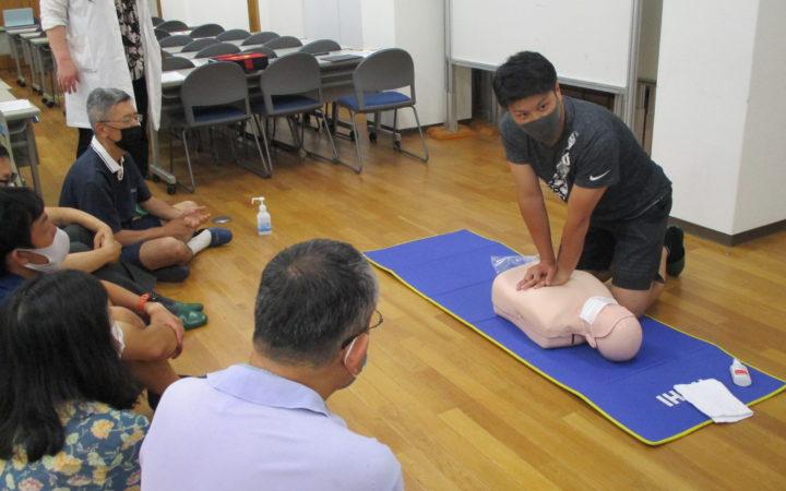 教職員対象普通救命講習を行いました